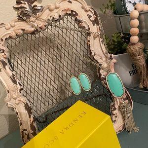 Kendra Scott Jewelry - Mint green Kendra Scott earrings & necklace set